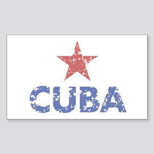 Cuba Rectangle Sticker